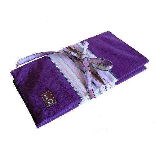 della Q Knitting Case 38-Pockets for Interchangeable Knitting Needles; 018 Purple Stripes 195-1-018 by della Q