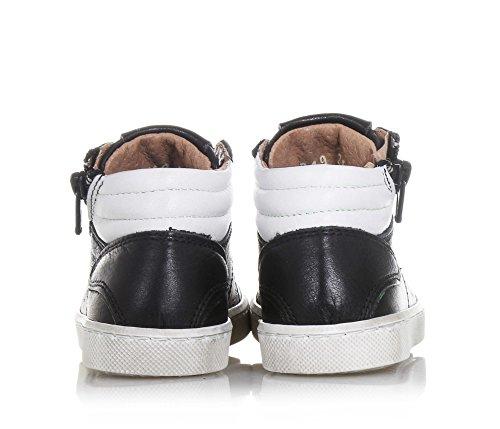 CIAO BIMBI - Zapatilla de cordones negra de cuero, curada en todos los detalles y capaz de combinar estilo, Niño, Niños