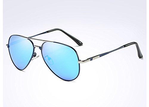 HD de para Gafas Hombres Gafas Brown Sol UV400 de Sombras Guía TL Sunglasses polarizadas blue Lujo w4q1YHEx