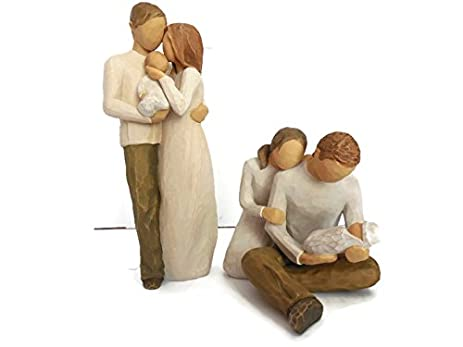 willow tree our gift parents and child family figurines bundle with new life parents and baby - Christmas Gifts For New Parents