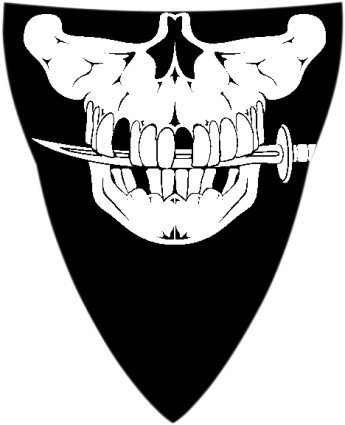 Schampa Stretch Half-Face Mask , Style: Pirate VNG008-D