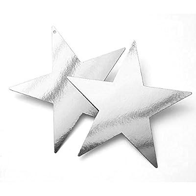 Silver Bulk Foil Star Cutouts | 5