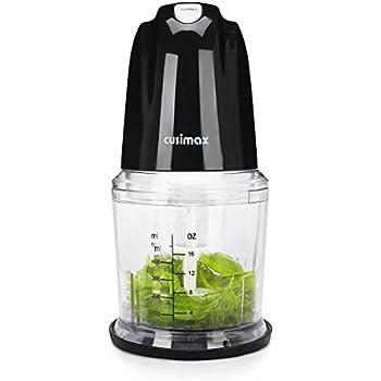 Cusimax 2-in-1 Multi-Function Food Processor, 2-Cup Electric Food Chopper and Salad Maker, BPA-Free Bowl, CMMC-260B, Black