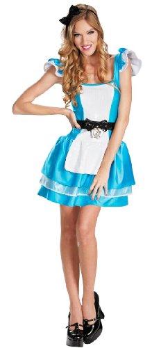Disney Costumes Female Characters (Disguise Walt Disneys Alice In Wonderland Glam Womens Adult Costume, Blue/White,)