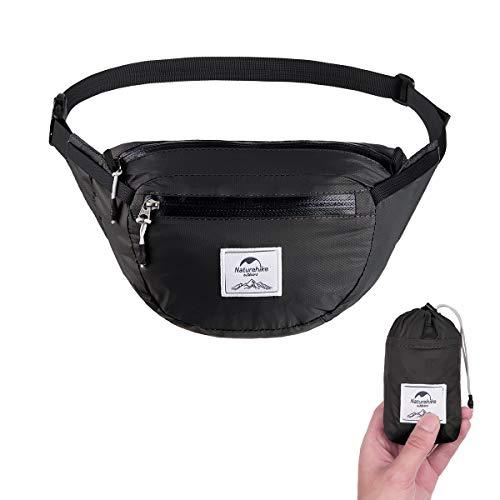 Naturehike Lightweight Waist Bag, Fanny Pack/Waist Packs Adjustable Belt Strap Runner, Cyclist,Hiking Outdoor Sports (6L Black)