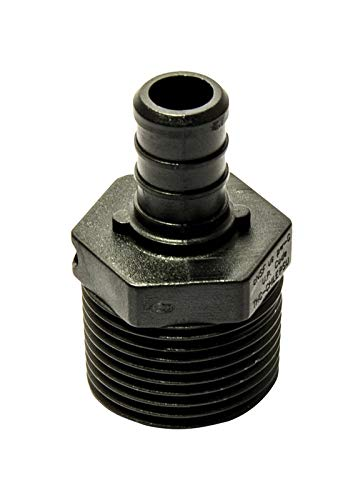 Plastic 0.5 ID Pack of 5 Crimp 1//2 x 3//4 MPT Ecopoly 32868 Male Adapter