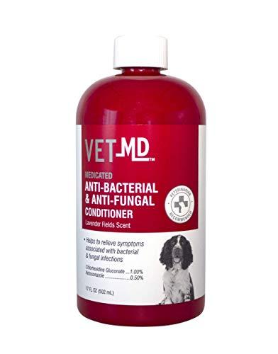 VetMD Medicated Anti-Bacterial & Anti-Fungal Conditioner | Best Medicated Conditioner For All Dogs, 17 ounces, Anti-Bacterial & Anti-Fungal