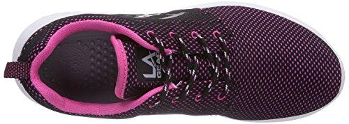 L.A. Gear Sunrise - zapatilla deportiva de material sintético mujer negro - Schwarz (Black-Fuchsia 08)