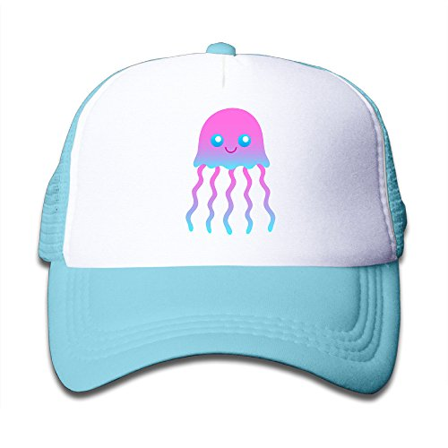 teenager-funny-jellyfish-adjustable-snapback-trucker-cap-skyblue-one-size