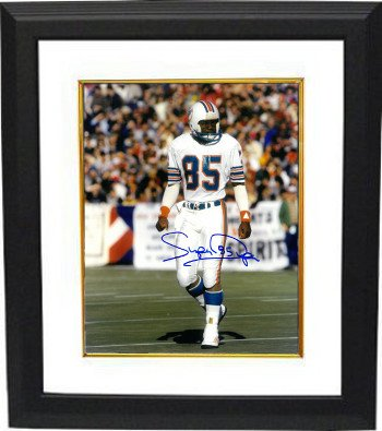 Athlon CTBL-BW16625 Mark Duper Signed Miami Dolphins 8 x 10 Photo Custom Framed Super - White Jersey