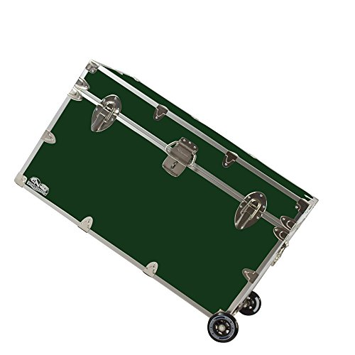 College Dorm Room & Summer Camp Lockable Trunk Footlocker with Wheels - Graduate Trunk by C&N Footlockers - Available in 20 colors - Extra-Large: 32 x 18 x 18.5 - Clothing West Stores Key