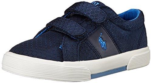 Polo Ralph Lauren Kids Felixstow EZ Fashion Sneaker (Toddler), Navy Ripstop, 7 M US Toddler