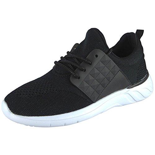 Look planos cómodos Zapatillas Blanco para Gimnasio mujer Loud cordones con Tamaño Running Calzado Negro deporte Ladies de 3 deportivo Gimnasio 8 gdPFnq