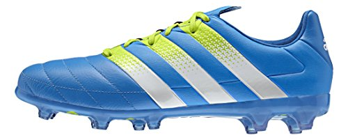 adidas Ace 16.2 FG/AG Leather, Scarpe da Calcio Uomo Multicolore (Azul / Blanco / Verde (Azuimp / Ftwbla / Seliso))