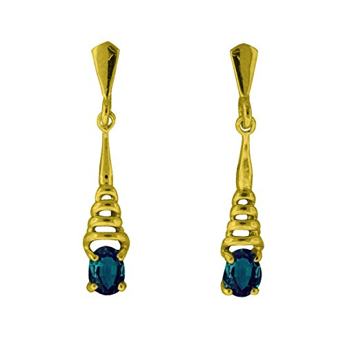 Natural Color Change Alexandrite Earring in 14 Yellow Gold ()
