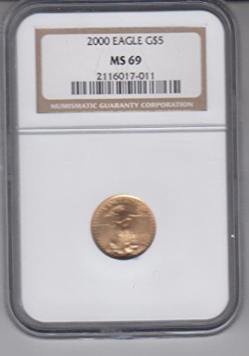 2000 American Gold Eagle $5 1/10 Oz. .999 Fine Coin $5 MS69 NGC