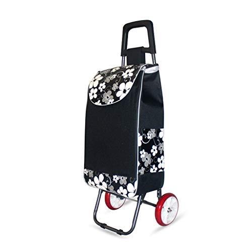 台所ショッピングカート、補強テレスコピックロッドバスケット購入するライシンプルスーパーマーケット朝市場ショッピングカートライトユニバーサル食料品買い物袋(色:D) B07SDRPV8S D