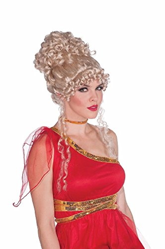 [Greek Roman Heavenly Goddess Curly Up Do Blonde Wig Womens Costume Accessory] (Greek Headdress Costume)