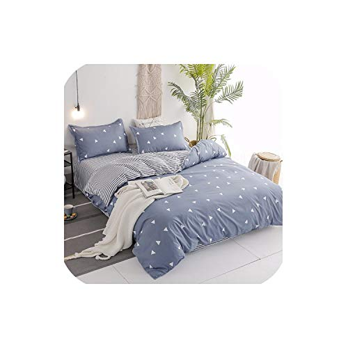 LOVE-JING Bed Linen Bedding Set Home Textiles 3/4Pcs Family Set Include Bed Sheet&Duvet; Cover&Pillowcases; Full Queen King Size,4,Twin 4Pcs,(Flat Bed Sheet)