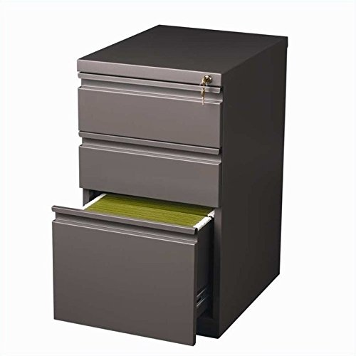 (Hirsh Industries 3 Drawer Mobile File Cabinet in Med Tone)