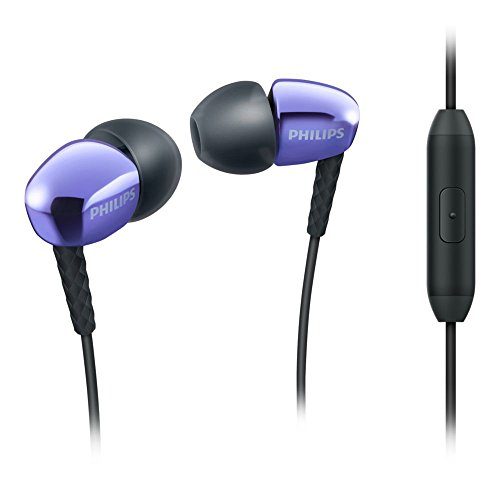 (Philips SHE3905PP - Mobile Headsets (Binaural, Black, Purple, in-Ear, Wired, 20 Mw, 3.5 mm (1/8