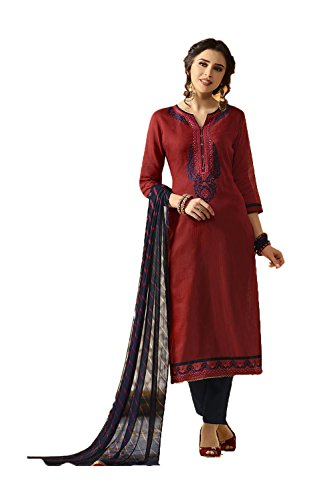 Indian Women Designer Partywear Ethnic Traditonal Red Anarkali Salwar Kameez by itsindiancrafty