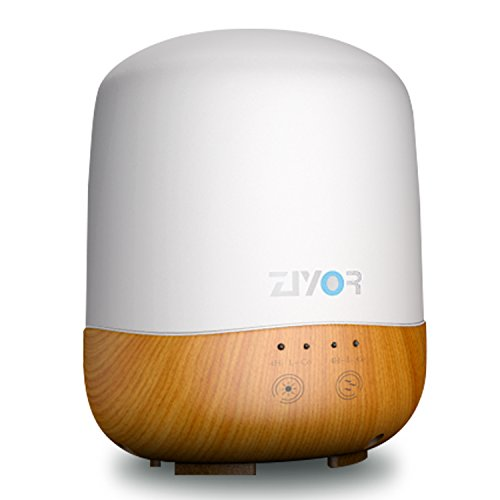 416OTo4N7ZL Aroma Essential Oil Diffuser, Cool Mist Humidifier, Ziyor 4 In 1 300ml Ultrasonic Aromatherapy Oil Vaporizer, Pilot Light Auto Off/On, No Beep, Timer and Auto-Off, 7 Colors LED, Adapt to Dark Bedroom