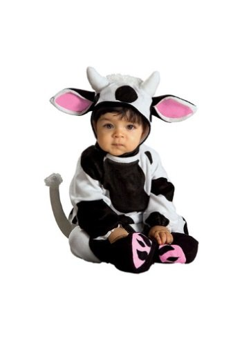 Baby In Cow Costume (Rubie's Costume EZ-On Romper Costume, Cozy Cow, 6-12)
