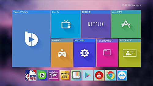 Tblaze Android TV Box Amlogic S912 Octa-core CPU 64-Bit 4K/3D/2GB/16GB AC Wireless Dual Band WiFi 2.4GHz/5GHz Ready To Stream Media Center,Keyboard Remote,Updated Version Realtime Firmware Updates by Tblaze (Image #7)