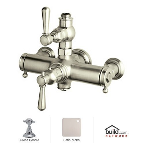 Rohl A2917XMSTN A1411Xctcb Country Bath Collection Verona Exposed Thermostatic Mixer with Cross Handles, (Rohl Exposed Thermostatic Mixer)