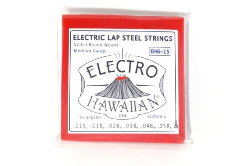 Asher Electro Hawaiian Lap Steel Strings EH6-15 - Single Set for 6-string (Hawaiian Steel Guitar)