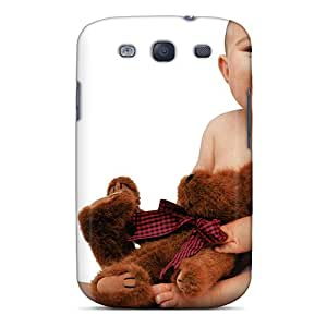 TinaHh Scratch-free Phone Case For Galaxy S3- Retail Packaging - Cute Baby With Teddy