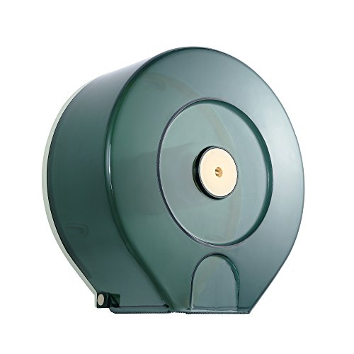 (Jumbo Roll Toilet Paper Dispenser - Lockable Design - Translucent - 250M Long up to 4-1/4