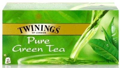 (Twinings Pure Green Tea 25 Sachets/box)