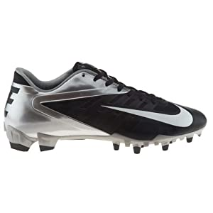 Nike Vapor Pro Low TD Mens Molded Football Cleats (11, Black/White-Metallic Silver)