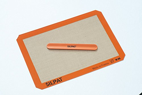 Silpat Silicone Baking Mat with Storage Band, Half Sheet Size, 11-5/8 inch x 16-1/2 inch