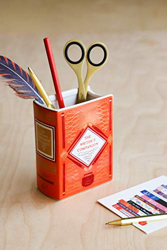 Bibliophile Ceramic Vase: The Writer's Companion
