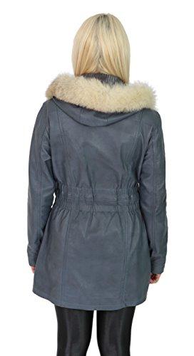 Mujer Goods Azul Coat cielo Fashion Duffle Manga A1 Coat larga RO0Fppn
