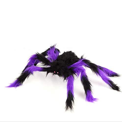 Isa Halloween simulación araña simulación Felpa Juguete Negro Viuda Vampiro Bar apoyos Etapa,Purple,50cm