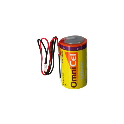 OmniCel ER34615 3.6V 19Ah Size D Lithium Battery with Wire Leads Replaces Eagle Pitcher PT-2300, Saft LS-33600 LS33600C, Tadiran TL-2300 TL-4930 TL-5930, Tekcell SB-D01 SB-D02, Xeno XL-200F - Pitcher Eagle
