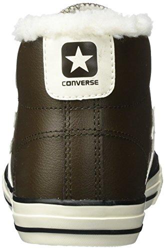 Converse Star Player Ev 3v Mid Hot Cocoa/Egret, Zapatillas Altas Unisex Niños Braun (Hot Cocoa)