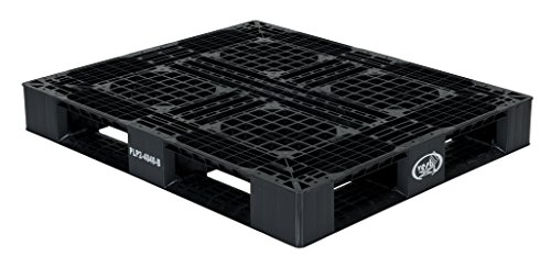Vestil PLP2-4840-BLACK Black Polyethylene Pallet with 4 Way Entry, 6600 lbs Capacity, 39.5