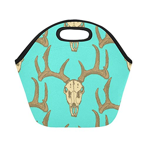 (Insulated Neoprene Lunch Bag Antelope Wildlife Cartoon Cute Large Size Reusable Thermal Thick Lunch Tote Bags For Lunch Boxes For Outdoors,work, Office,)