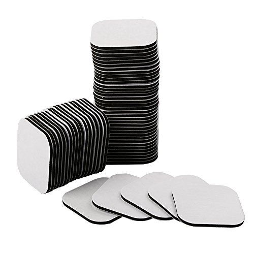 nidici Double Sided Sticky Pads Strong Adhesive Foam Tape Square Mounting Pad(60pcs,Black)