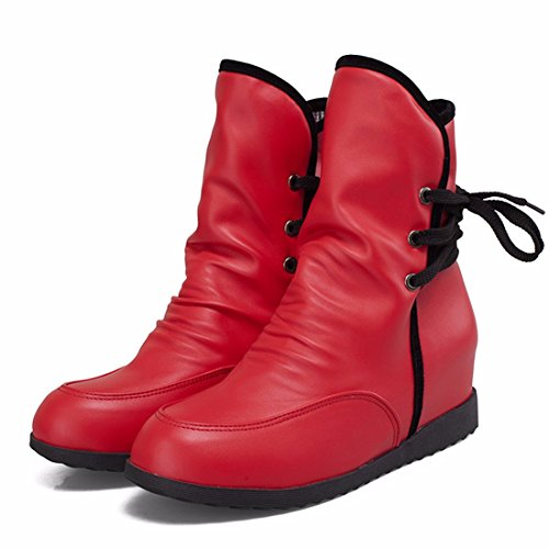 Shoes The up Women's code fashion after Terry Red boots RFF winter and female lace Booties autumn High 5vgvAxwCq