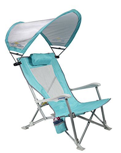 GCI Outdoor Waterside SunShade Folding Beach Recliner Chair