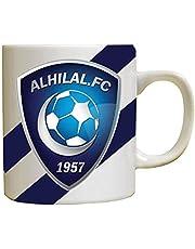 Ceramic Mug of coffee or tea with Alhilal logo, fixed colors - Designed for Funny
