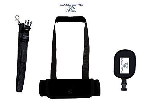 Smile Pig Lover Dog Lift support Harness with Handle and Adjustable Handlesh Help Lifts Older Dogs or Young Puppies for Injuries, Arthritis or Weak hind legs & Joints (M, Black) (Up And Out Lift Harness compare prices)
