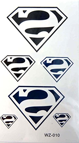 superman temporary tattoo sticker body decal wedding -