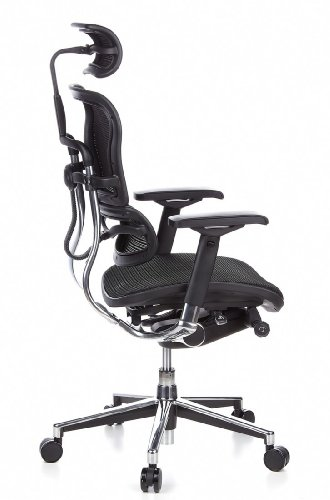 Ergohuman Bürostuhl mit Netz-Stoff, schwarz - 4